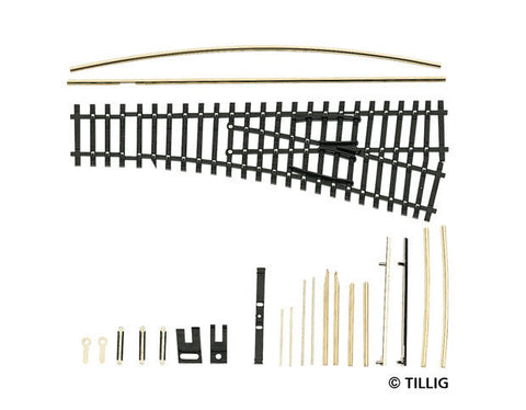 Tillig 83421 Flexi curved points kit frog angle 12°