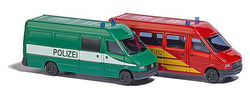 Busch 8309 2 Mercedes Sprinter Police and Fire
