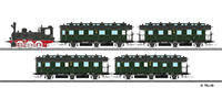 Tillig 1751 Passenger coach set of the DRG with steam locomotive clas