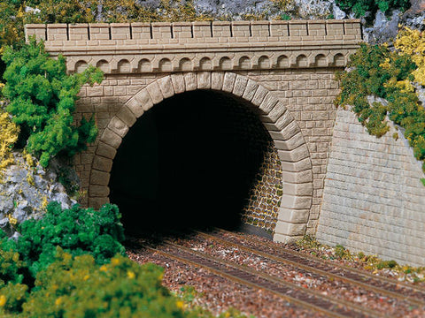 Auhagen 11343 HO 2 Double track tunnel portals