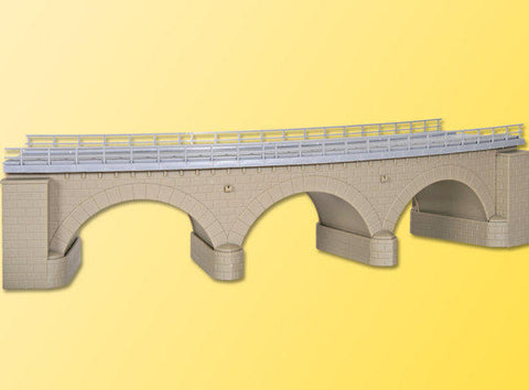 Kibri 39723 H0 Stone Arch Bridge With Ice Breaking Pillars, Curved, Single Track