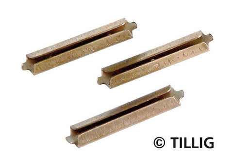 Tillig 85501 Rail joiners nickel silver browned (25 pieces)