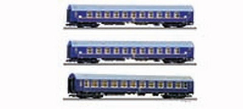 Tillig 1698 Passenger coach set Tourex 2 of the DR with two sleeping