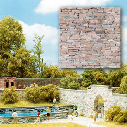 Busch 7423 Sandstone Stone walling 2 x card sheets ea 210x148mm