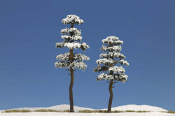 Busch 6155 2 x Snow Covered Trees 130mm/160mm