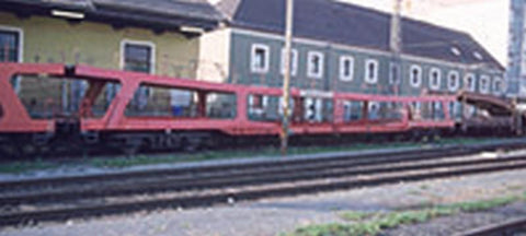 Tillig 1702 Set of the ÖBB with two cars DDm for automobile transport