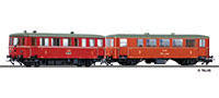 Tillig 70022 Railbus class M140 with trailer car CDlm of the CSD Ep. I