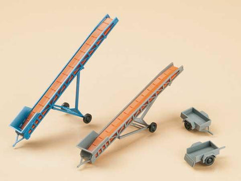 Auhagen 43650 TT Set of 2 Conveyor belts & 2 car trailers