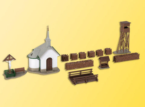 Kibri 39780 H0 Chapel With Accessories
