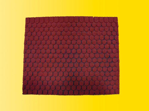 Vollmer 48730 O Real Stone red tile roof sheet