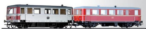 Tillig 70008 Railbus VT 70 971 with trailer car VB 140 of the DB Ep. I