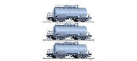 Tillig 1769 Freight car set of the DR with three tank cars ZZ 51 Ep.