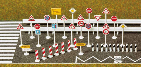 Busch 8121 N Traffic Sign Set