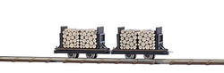 Busch 12211 ## 2 flat wagons with logs
