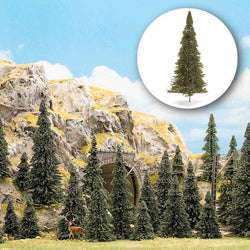 Busch 6470 HO 15 Assorted Pine Trees
