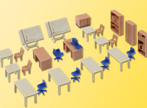 Kibri 38655 H0 Office Furniture