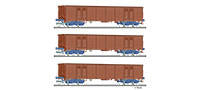 Tillig 1770 Freight car set of the DR with three open cars Eas 5948 w