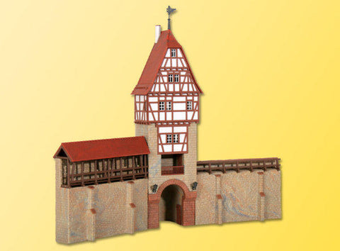Kibri 38914 H0 Town wall with timber-framed tower in Weil