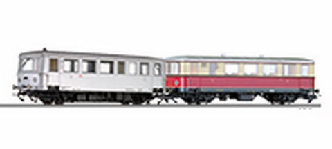 Tillig 70020 Railbus class CvT 135 with trailer car Cpostv 35 of the D