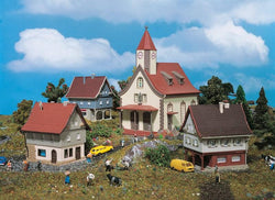 Vollmer 49555 Z Village Set With Church