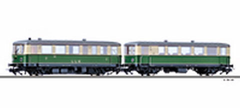 Tillig 70021 Railbus class VT 02 with trailer car VB 1 of the Lokalbah