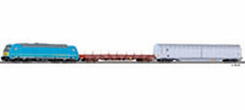 Tillig 1438 Freight car set for beginners with bedding track of the M