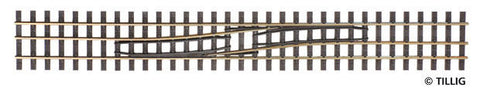 Tillig 85186 Track change right / left HO-HOe, length 228 mm
