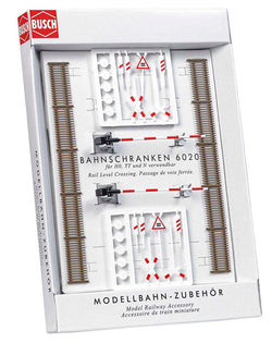 Busch 6020 HO Dummy Level Crossing Set