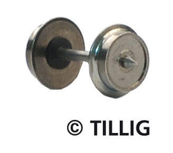 Tillig 8818 Metal wheel set Ø 75 mm one wheel isolated (bag of 8)