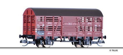 Tillig 14814 Shed car for transport of animalsof the DR Ep. III