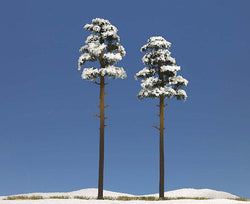 Busch 6156 2 x Snow Covered Trees 195mm/210mm