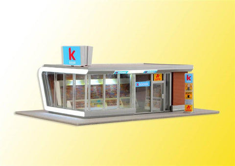 Kibri 39008 H0 Kiosk incl. LED lighting, functional kit
