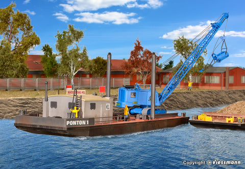 Kibri 39156 Working Pontoon With Excavator
