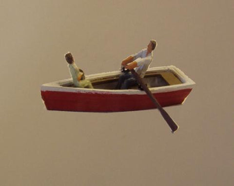 Row Boat With Passenger - OO Gauge