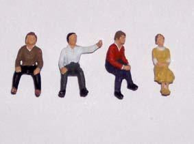 Painted Sitting People - OO Gauge