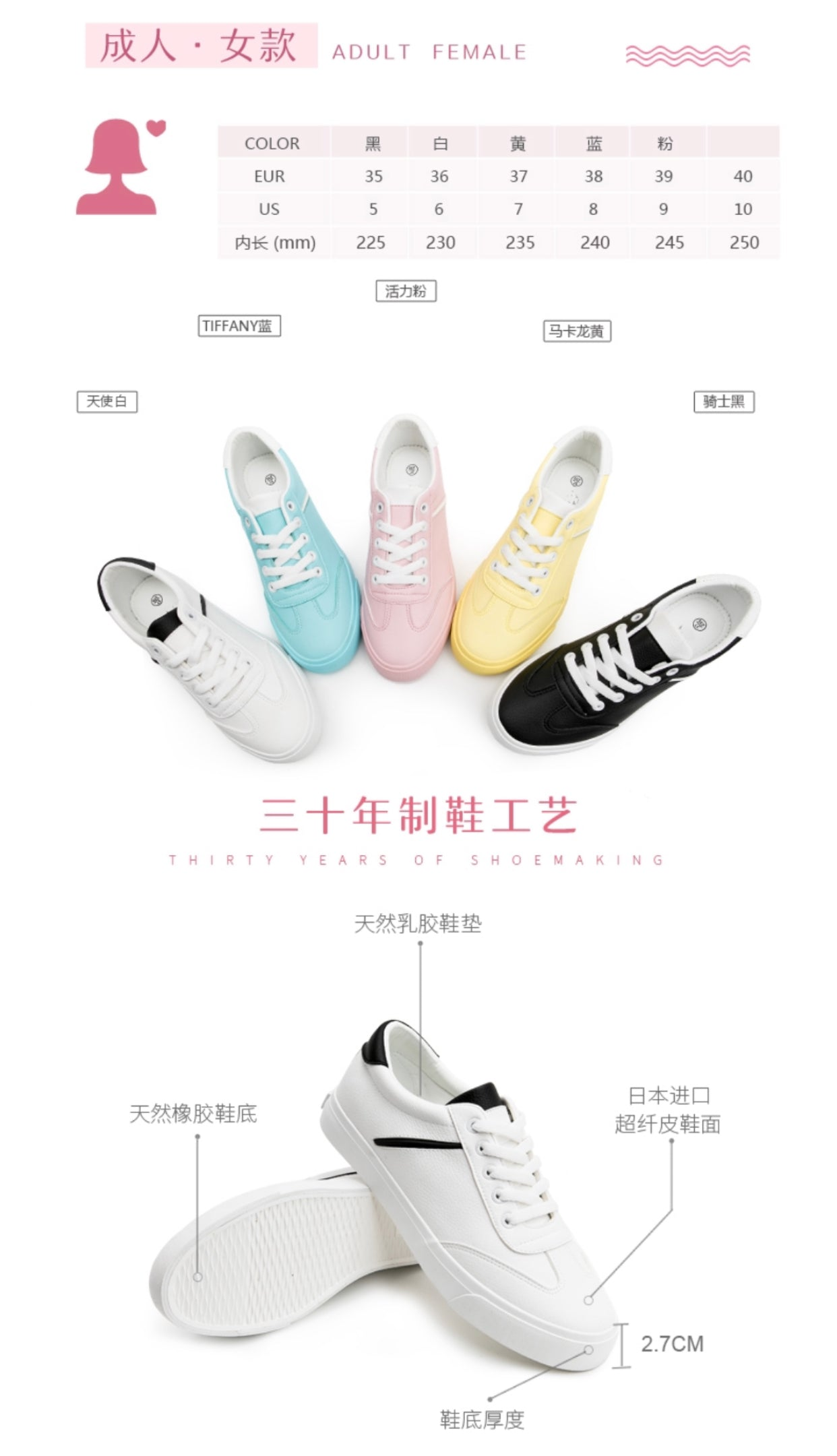 Mowa Colorful Candy Ladies Sneakers
