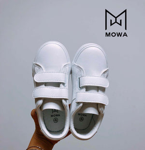 Mowa DNA White School Uniform Sneakers for Kids