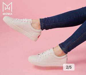 Mowa M-heeart Light Grey Sneakers for Women