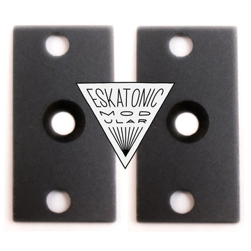 1U Intellijel Format - Black Eurorack Brackets (pair)