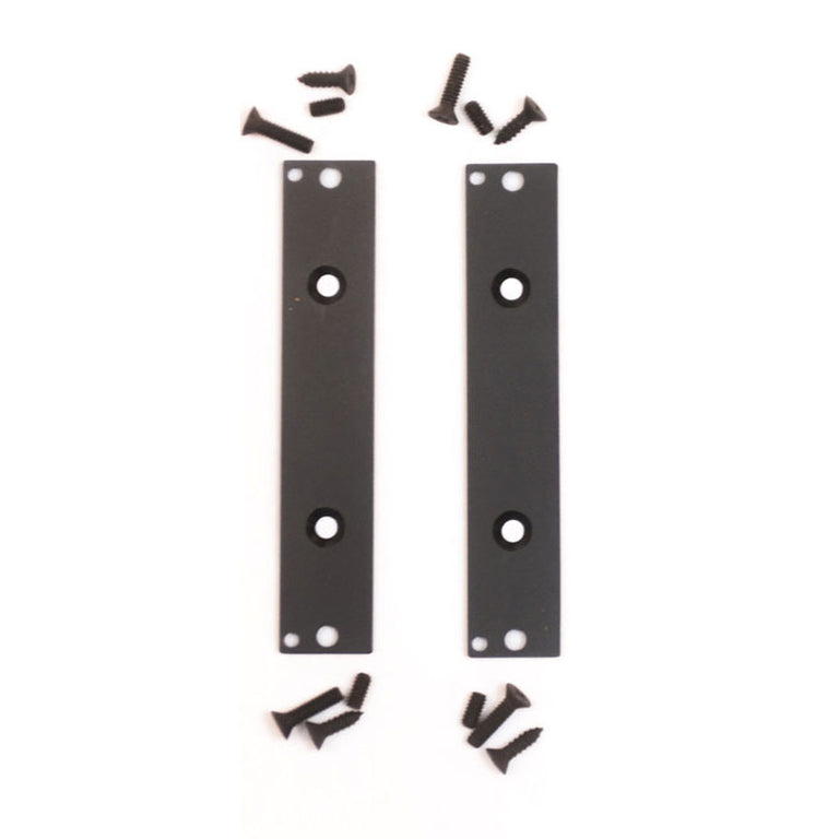 3U Black Eurorack Brackets (pair)