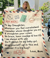 Air Mail Mom To My Daughter Remember Whose Daughter You Are - Premium Fleecee Blanket