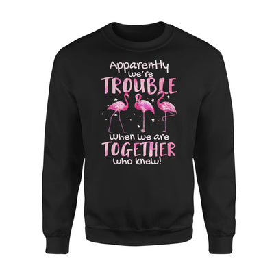 Apparently Were Trouble When We Are Together Who Knew - Standard Fleece Sweatshirt - S / Black