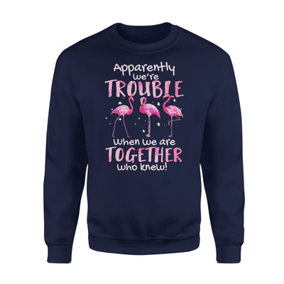 Apparently Were Trouble When We Are Together Who Knew - Standard Fleece Sweatshirt - S / Navy
