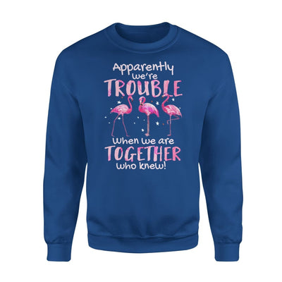 Apparently Were Trouble When We Are Together Who Knew - Standard Fleece Sweatshirt - S / Royal