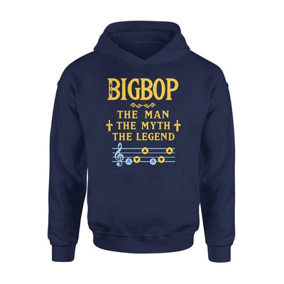 Bigbop The Man Myth and Legend - Gaming Dad Grandpa Fathers Day Gift For - Standard Hoodie - S / Navy