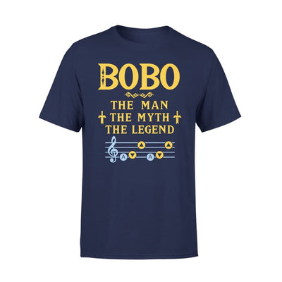 Bobo The Man Myth and Legend - Gaming Dad Grandpa Fathers Day Gift For - Standard Tee - S / Navy