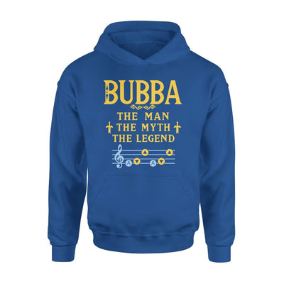 Bubba The Man Myth and Legend - Gaming Dad Grandpa Fathers Day Gift For - Standard Hoodie - S / Royal