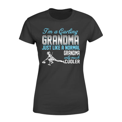Curling Grandma Just Like A Normal Only Much Cooler Gift For Mother Mama - Standard Womens T-shirt - XS / Black