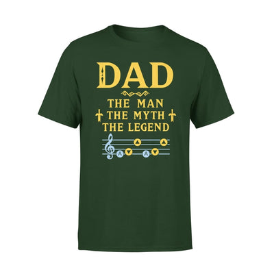 Dad The Man Myth and Legend - Gaming Grandpa Fathers Day Gift For - Premium Tee - XS / Forest