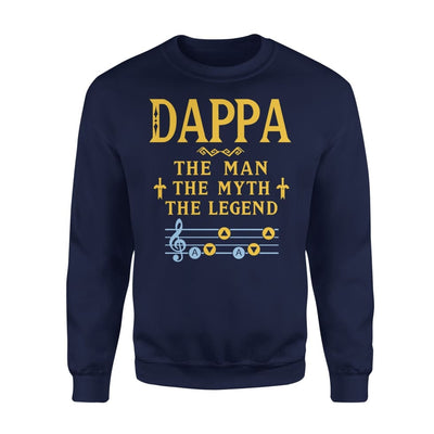 Dappa The Man Myth and Legend - Gaming Dad Grandpa Fathers Day Gift For - Standard Fleece Sweatshirt - S / Navy